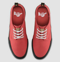 Dr Martens Pressler Red Canvas Leather Sneaker Shoes Size 9 Air Wair