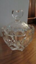 MARQUIS BY WATERFORD CUT CRYSTAL COVERED BOWL-  LIKE BRAND NEW IN ORIGINAL BOX