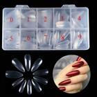 500Pcs Stiletto Nails Tips Clear Full Cover False Long Acrylic Gel Nails Art Tip