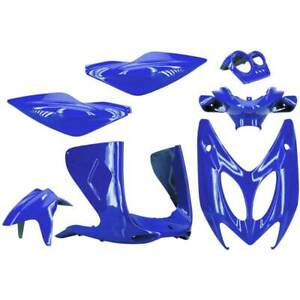 Set 7 Piezas Carenado Azul Metal MBK 50 Nitro 1997-2012