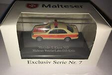 """herpa Exclusiv Serie Nr. 7  - MB E-Klasse """"Malteser Wetzlar"""", H0 1:87, neu +OVP"""