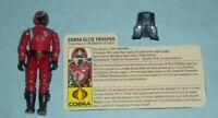 1985 GI Joe Cobra Elite Trooper Crimson Guard v1 Figure w/ Peach/Tan File Card