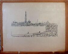 gravure sur bois de Richard Burgsthal 1884-1944 René Billa
