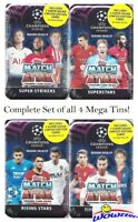2018/19 Topps Match Attax Champions League Soccer Set of 4 MEGA TINS-240 Cards