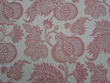 """Sanderson per tende tonnellate """"Cina"""" Blu Lino / Rosso 5.7 metri (550cm) tessuti"""
