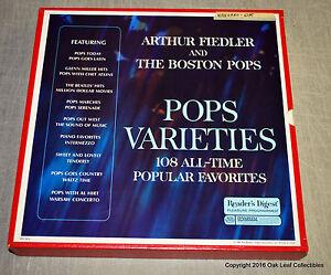Readers Digest Arthur Fiedler Boston Pops Varieties RDA98-A 9-LP Box 1969