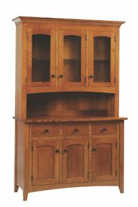 New | Stickley Style | Mission | China Hutch | Custom Built in USA!