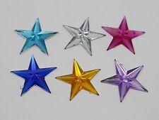 100 Mixed Color Acrylic Flatback Star Rhinestone Gems 20mm DIY Embellishments