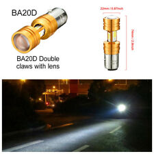 360° BA20D COB LED High Low Beam Light 3500lm 30W Motorcycle Headlight With Lens