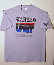 UWF Universal Wrestling Federation Wanted T-Shirt 4X-Large NEW!!
