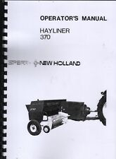 "New Holland  ""Hayliner 370"" Baler Operator Instruction Manual Book"