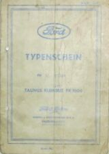 * Ford Taunus Kleinbus FK 1000 1500 ccm 1955  Österr. Typenschein SAMMLER *