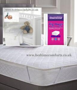 "COT BED BABY (160cm x 80cm) 63"" x 32"" Slumberdown Big Hugs MATTRESS PROTECTOR"