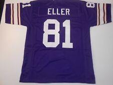 UNSIGNED CUSTOM Sewn Stitched Carl Eller Purple Jersey - 3XL