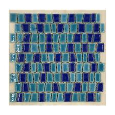 CERAMICA DI TREVISO mosaico da rivestimento TOKI MIX azzurro (fogli 30x30)