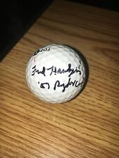 Fred Hawkins Signed 1957 Ryder Cup Golf  Ball COA
