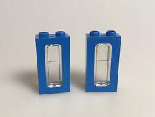 LEGO® Eisenbahn 2x Fenster blau schmal 1 x 2 x 3 4035 4036 aus 7710 6694 12 Volt