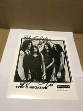 Type O Negative Autographed 8x10 Full Band With COA!!!!!!! Must Look!!!!