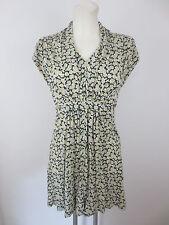 French Connection Damen Mini Kleid Sommerkleid Gr.6 (36) Geblümt Kurzarm Dress