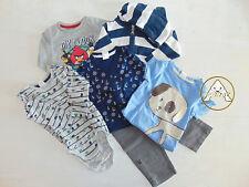 USATO Set Felpa Maglione Pantaloni Body 6 7 8 9 Mesi Months Bambino Blu Bianco