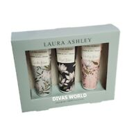 Laura Ashley Luxury Hand & Nail Cream Gift Set For Her 3 x 50ml Brand New Boxed