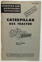 1964 Caterpillar 824 Tractor Operation & Maintenance Manual Master Copy