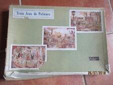 Anciens jeux de patience-3 puzzles bois TBE- Jouets Vera-FERME/ZOO/CIRQUE