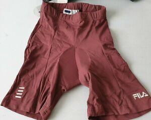 "Fila Cycling Cycle Shorts Performa Dark Red Spinning Shorts UK Medium 38""  (NN)"