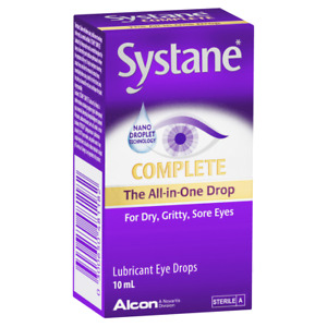 Systane Complete 10mL Eye Drops All-in-One Lubricant Nano Droplet Technology