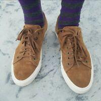 FRYE Mens Brown Walker Low Lace Up Suede Sneaker Shoes Size 10