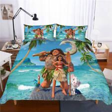 New Moana 3D Design Bedding Set 3PC Of Duvet Cover Pillowcase Single Double King