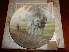 Royal Doulton Collectors Plate HIS HAND TO THE PLOUGH Shire Horse Plate BOXED