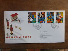 GREAT BRITAIN 1989 GAMES AND TOYS SET 4 STAMPS FDC FIRST DAY COVER
