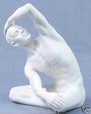 CP30071AA Man~Male Pose Stretch~Nude Porcelain Statue Sculpture~Artistic Body