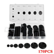 170Pcs Rubber Grommet Firewall Hole Plug Set Electrical Wire Gasket Kit For Car