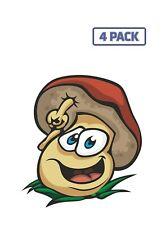 Sketch Cartoon Mascot Mushroom Chart Fungus Edible Sticker Vinyl Decal 1-068