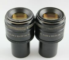 Pair Leica HC Plan 10x 22 M 507806 30mm Microscope Eyepieces