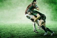 Enmarcado impresión Rugby (Imagen Cartel 6 Naciones Inglaterra Nueva Zelanda All Blacks)