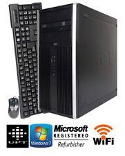 HP 6200 Tower 250GB Windows 7 Intel I3 DVD/RW 3.1GHz 8GB WIFI Ready Warranty