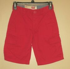 NWT Boy's Levi's Relaxed Fit Red Cargo Shorts Size 8 Reg Waist 24 MSRP $40