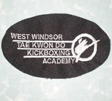 """West Windsor Tae Kwon Do Patch - New Jersey - 3 7/8"""" x 2 3/8"""""""