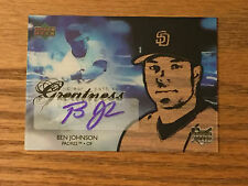 2006 Upper Deck BEN JOHNSON Autograhed Baseball Card - Clear Path to Greatness