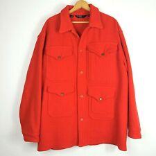 Polo Ralph Lauren Boiled Wool Mackinaw Field Hunting Jacket M L Vintage Safari