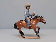 Retired Hagen Renaker Cowboy on Cutting Horse