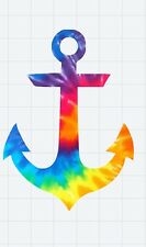 """Tie Dye Anchor Decal/Sticker for 20oz or 30oz Tumbler Cup ***3""""H***"""
