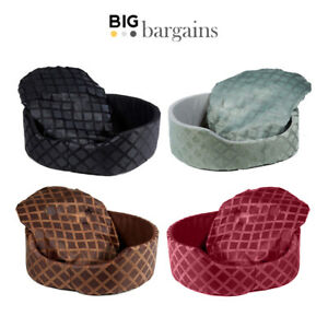 Luxury Soft Round Pet Bed Basket Mattress Mat Cushion Dog Cat Puppy Kitten Large