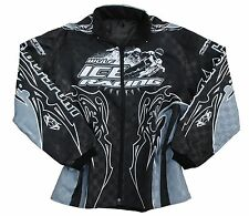 Wulfsport Ice Speedway Jacket Grey/Black Motocross Coat MX Large
