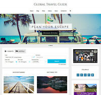 [NEW DESIGN] * TRAVEL VACATION * store website business for sale AUTO CONTENT!