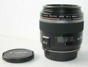 Canon EF-S Ultrasonic USM 60mm F2.8 Autofocus Macro Prime Lens.