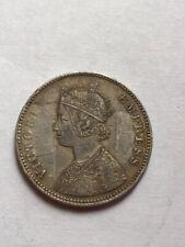 British India Silver Rupee 1885